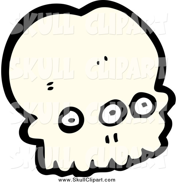 Vector Clip Art of a Three Eyed Alien Skull