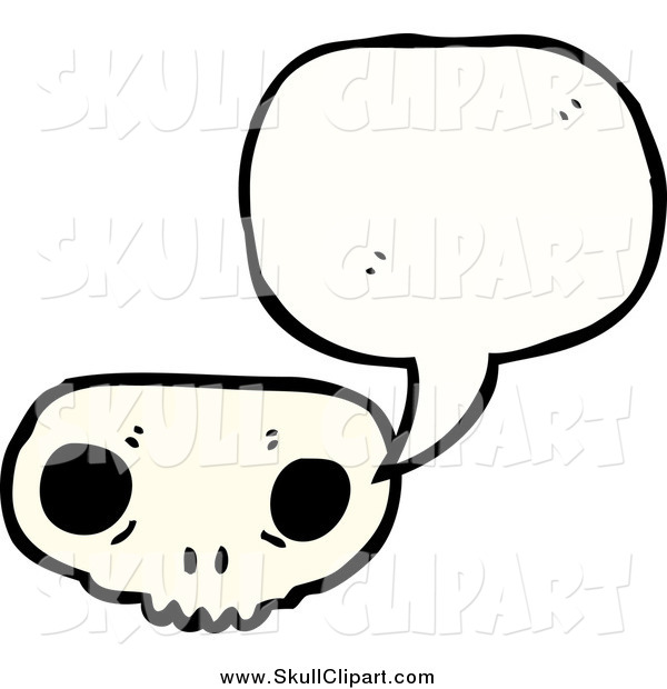 Vector Clip Art of a Weird Skull Speaking
