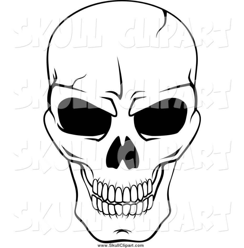 This is a photo of Candid Skull Drawing Black And White