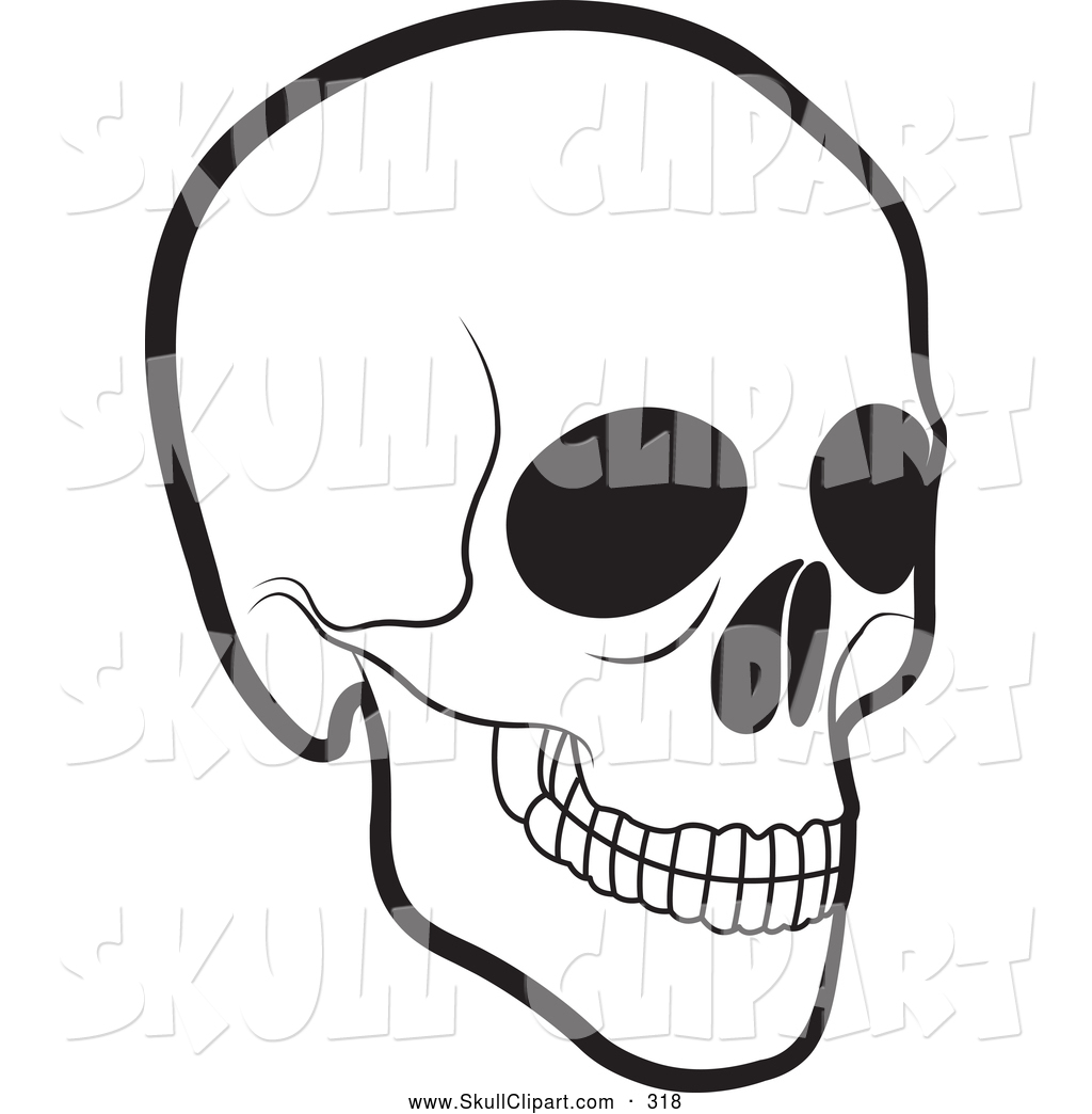 vector clip art of a scary black and white human skull by lal perera rh skullclipart co skills clipart skull clipart collection