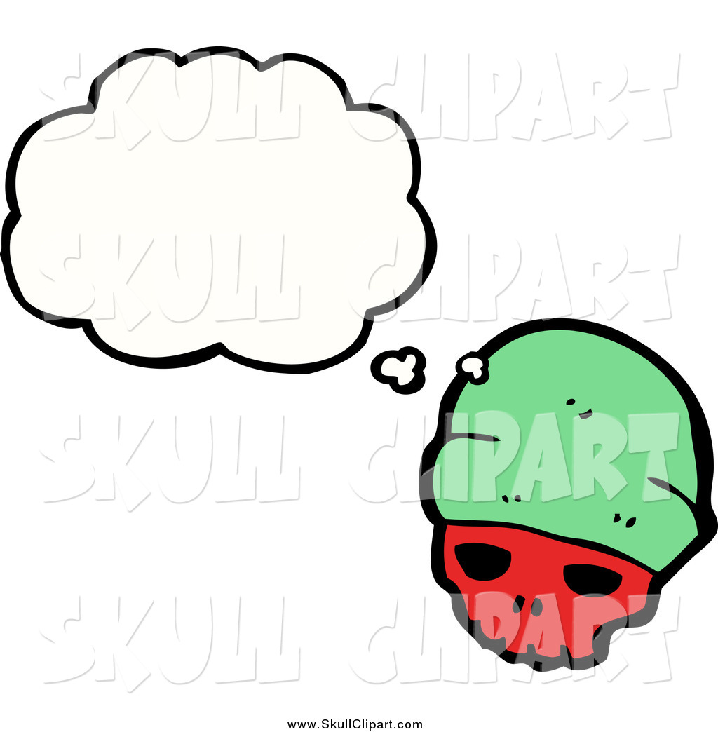 Vector Clip Art Of A Skull Wearing A Green Hat By